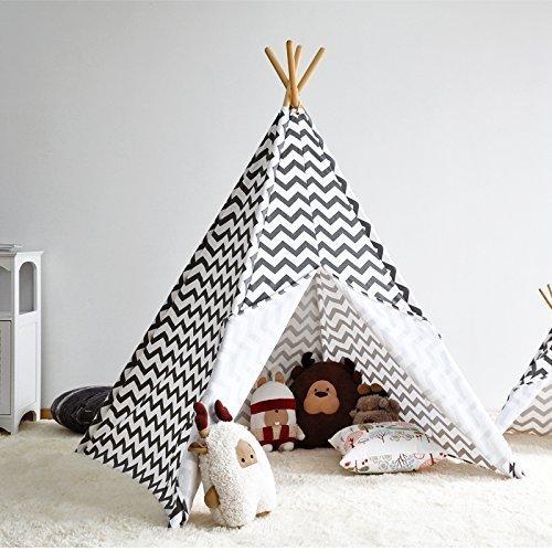 Kinder Tipi Zelt mit 4 Stangen, Spielzelt, Kinder Tipi, Kleinkinder ...