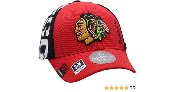 Black, Reebok Chicago Blackhawks Adult Locker Room Adjustable Cap