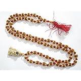 Hanuman Chalisa Rudraksha Golden Caps Japa Mala Beads ~ Protection Kundalini Mala