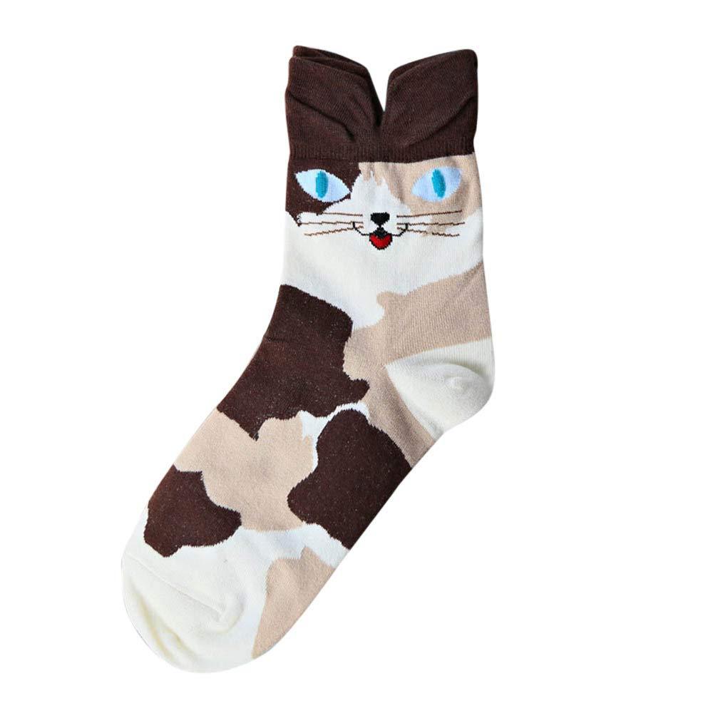 Pausseo Unisex Men Women Cute Lovely Cartoon Animal Zoo Socks Ladies Girls Cotton Warm Soft Sox Stockings Soft Comfortable Sweat Deodorant Anti-Slip Girls Bed Sleep Skateboard Casual Sock