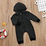 ViWorld Baby Boy Girl Romper Black Snap Long Sleeve