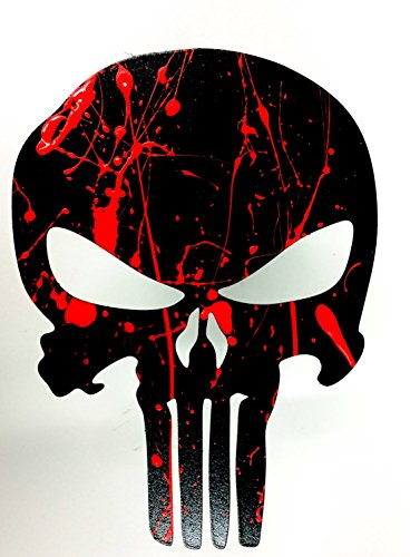 Fox MetalFab Trailer Hitch Cover - Punisher (Blood ()