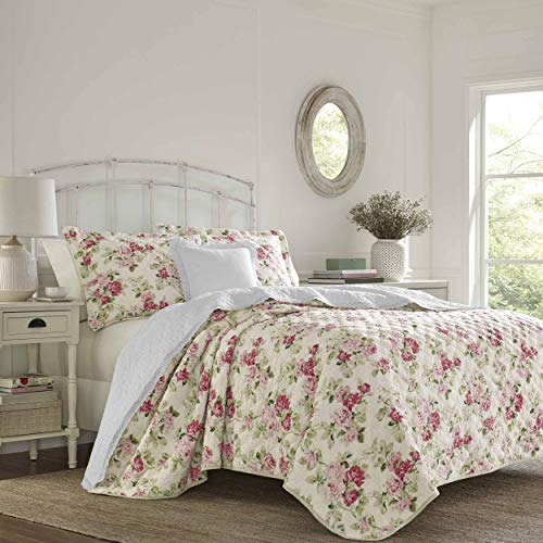 Laura Ashley Willa Quilt Set, Twin, Pink