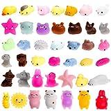 WATINC 30 Pcs Cute Animal Squishy, Kawaii Mini Soft Squeeze Fidget Hand Toy for Kids Gift,Stress Relief,Decoration