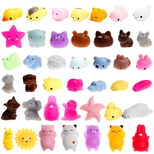 WATINC 30 Pcs Mochi Squishies Toy, Squeeze Cat Squishies for Mochi Party Favors, Birthday Gifts for Boys & Girls, Mini Cute Animal Squishies Toys, Kawaii Stress Relief Toys, Goodie Bags Egg Fillers (Party Penguin Stuff)