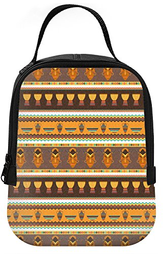 African Stripes Vase (African Masks Neoprene Lunch Tote)