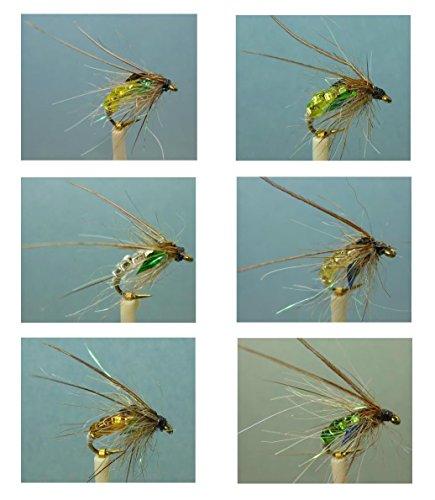 Bead Caddis Pupa (36 Artflies Bead Body Caddis Pupa Flies – 6 Colorations. #14, [PN250])