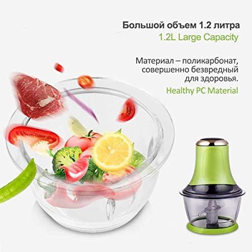 HAOT Trituratore Elettrico, Robot da Cucina per Uso Domestico in Acciaio Inossidabile 2L 300W per Tagliare a Pezzi Verdure, Frutta a Guscio e Fagioli