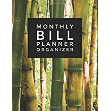 """Monthly Bill Planner Organizer: Bamboo Design Bill Payment Planner, Money Organizer, Debt Tracker, Simple Home Budget Spreadsheet, Cute Beach Cover Large Print 8.5""""x11"""": Budget Planner Workbook Made In USA"""