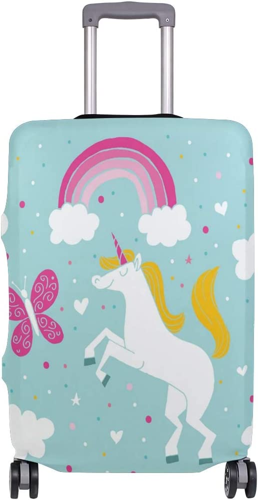 Nanmma Cute 3D Adorable Unicorn Pattern Luggage Protector Travel Luggage Cover Trolley Case Protective Cover Fits 18-32 Inch