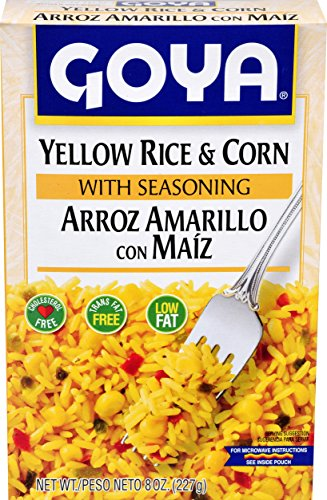 Goya Foods Yellow Rice and Corn Mix, 8-Ounce (Pack of (Curried Rice)