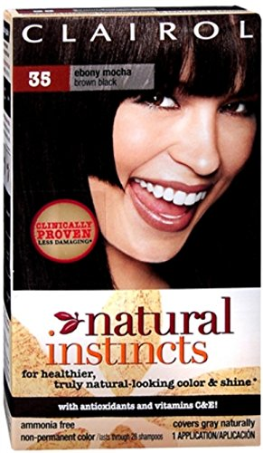 Clairol Natural Instincts Non-Permanent Haircolor Ebony Mocha 1 Each (Pack of 12) by Clairol