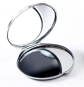 Ferza Home Mini miroirs en Verre de modèle de Plante de Forme Ronde pour Accessoire cosmétique de décoration d'artisanat