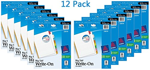 Avery Write Dividers 8 Tabs Sets