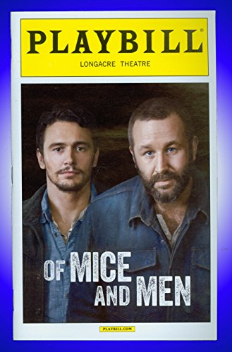 Of Mice and Men, Off-Broadway playbill + James Franco, Chris O'Dowd (Chris O Dowd Of Mice And Men)