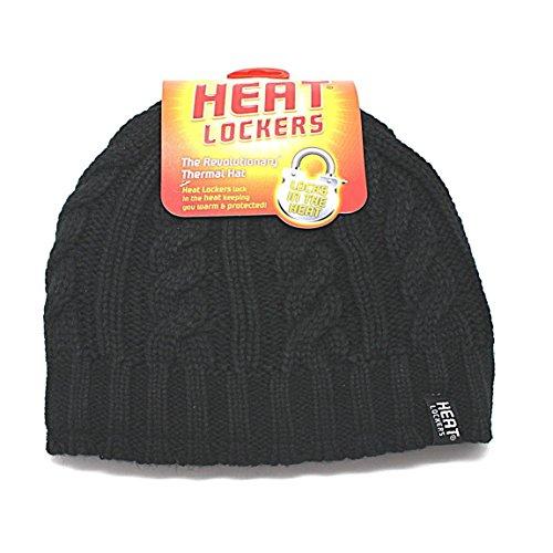 Michelle Thermal - Heat Lockers - Womens Black Braided Thermal Hat