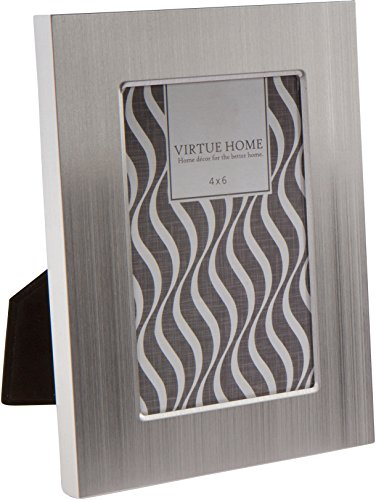 Virtue Home Brushed Aluminum Table Or Wall Picture Frame