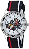 Disney Boy's 'Mickey Mouse' Quartz Plastic and Nylon Casual Watch, Color:Black (Model: WDS000217)
