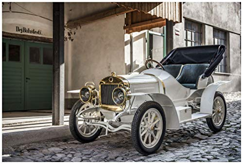 Laurin & Klement BSC (1908) Car Art Poster Print on 10 Mil Archival Satin Paper White Front Side Static View (11