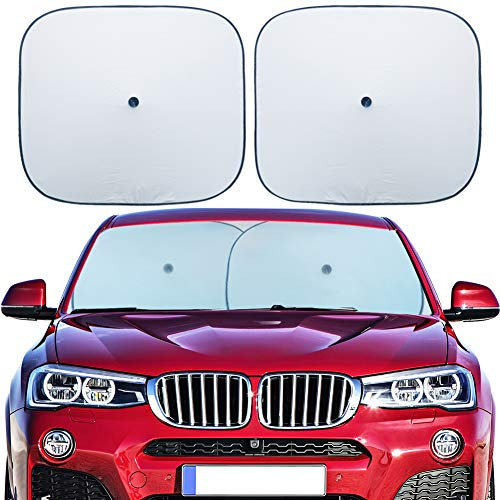 Flyday Car Windshield Sun Shade - Blocks UV Rays and Keep Your Vehicle Cool and Damage Free, Car Sunshade Fits Trucks SUVs -