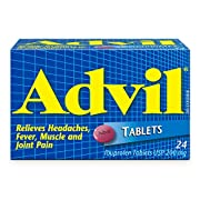 Advil Tablets (24 Count), 200 mg ibuprofen, Temporary Pain Reliever / Fever Reducer