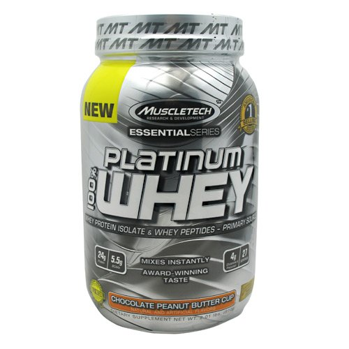 Platinum 100% Whey Essential Series By MuscleTech, Chocolate Peanut Butter Cup, 2lb