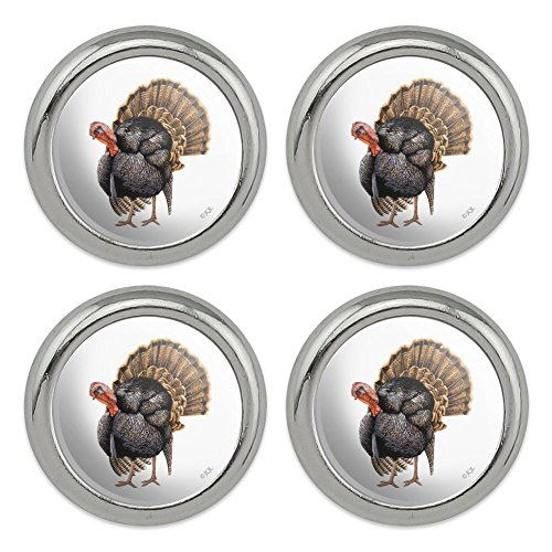 Tom The Awesome Wild Turkey Metal Craft Sewing Novelty Buttons - Set of ()