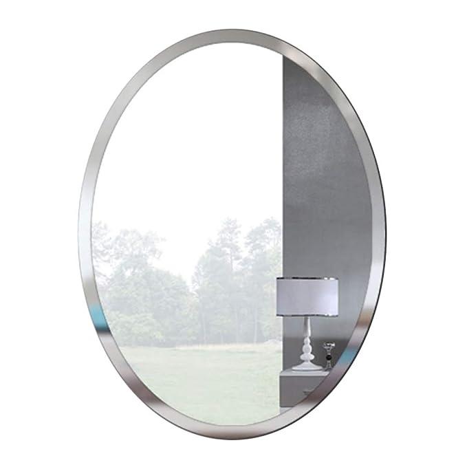 Bathroom mirror Style europ/éen Ovale Miroir Mural pour Salle de Bain Chambre Salon Couloir Miroir de d/écoration Miroir de vanit/é Miroir De Rasage Miroir grossissant Miroir de Maquillage