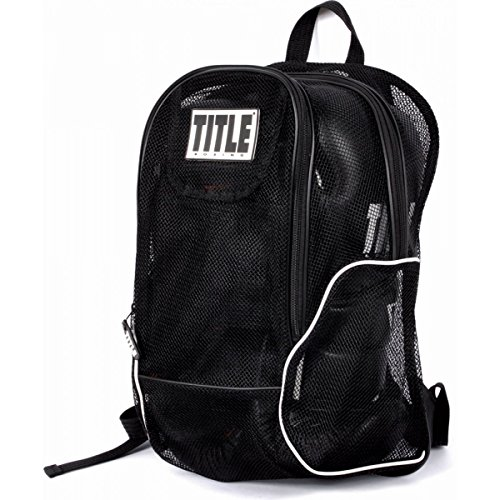 Boxing Title Belt (TITLE Boxing Mesh Equipment Backpack, Black)