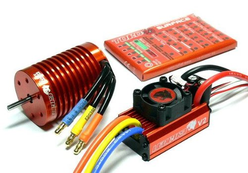 LEOPARD SKYRC 3930KV 10T Brushless Motor /& 60A ESC Speed Controller Combo ME718 with RCECHO Full Version Apps Edition