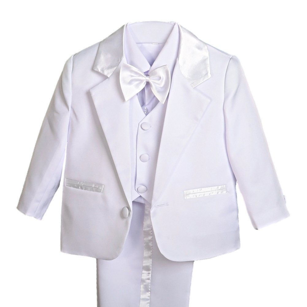 Dressy Daisy Baby Boy' 5 Pcs Set Formal Tuxedo Suits No Tail Christening Outfits