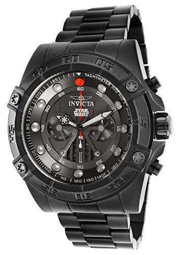 Invicta Men s Star Wars Quartz Stainless Steel Casual Watch, Color Black Model 26497