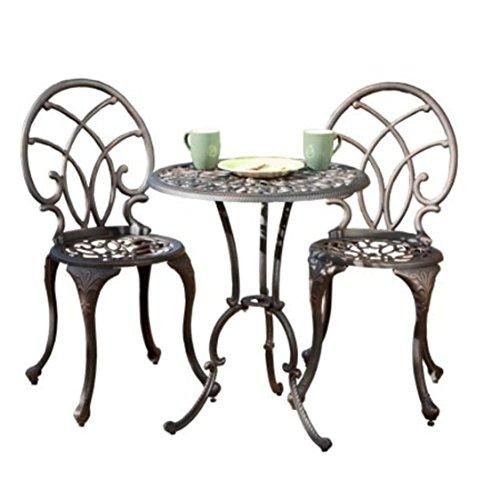 Stained Glass Silver Umbrella (Copper Aluminum Modern Design Patio Furniture Bistro Set)