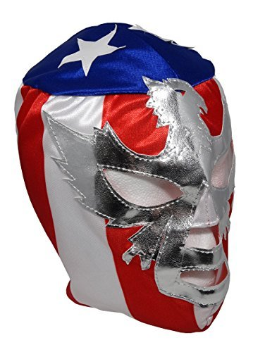 - PATRIOT Youth Lucha Libre Wrestling Mask - KIDS Costume Wear - Flag