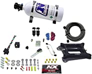 Nitrous Express 40041-05 4150 50-200 HP 4-BBL Hitman Plus Plate System with 5 lbs. Bottle