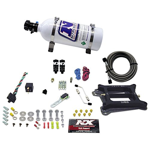 Nitrous Express 40041-05 4150 50-200 HP 4-BBL Hitman Plus Plate System with 5 lbs. Bottle ()
