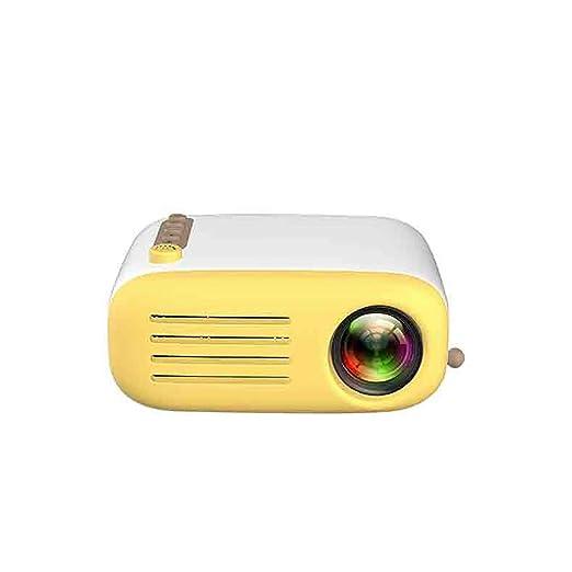 YTDDD Mini proyector, batería incorporada actualizada, proyector ...