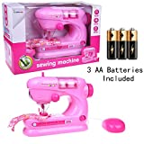 Kids Toy Sewing Machine Fun Little Toys Home Improvement Children's Playset Appliances Batteries Included