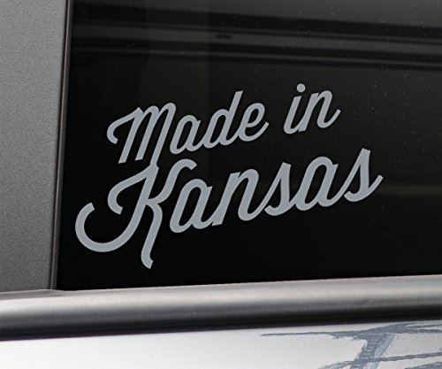 (Made in Kansas Vinyl Decal Laptop Car Truck Bumper Window Sticker, 7.5