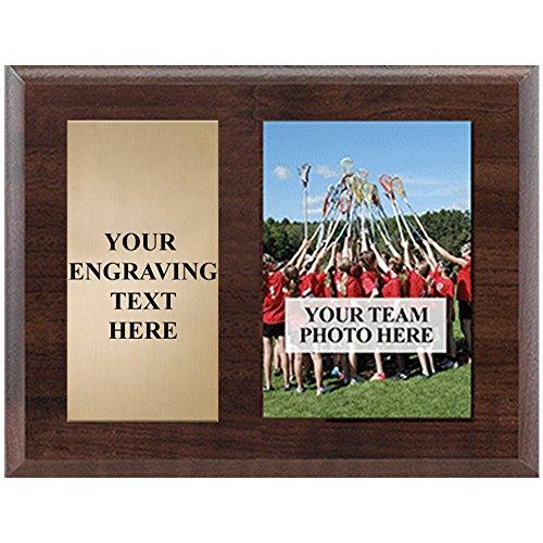 Horizontal Team Photo Gift - 10 x 8 Wood Team Plaque Awards Prime