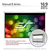 """Elite Screens Manual B, 100""""  16:9, Manual Pull Down Projector Screen 4K / 3D Ready with Slow Retract Mechanism, 2 Year Warranty, M100H"""