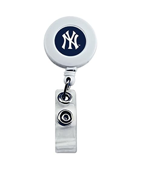 Amazon.com   New York Yankees Sports Team Logo Retractable Badge Reel Id  Ticket Clip   Badge Holders   Office Products 265543d88c92