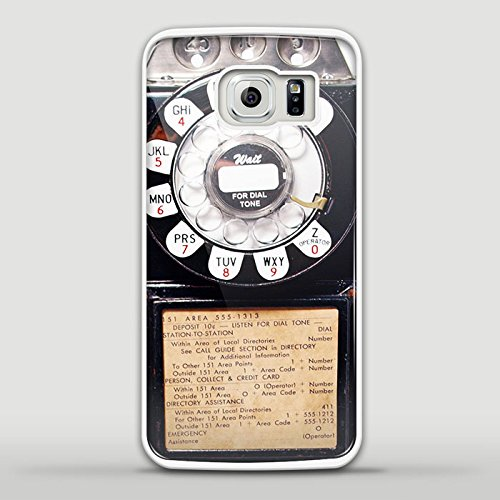 Vintage Payphone Design Gno for Samsung Galaxy and Iphone Case (Samsung S6 Edge white)