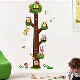 GYMNLJY Wall stickers Kids Room kindergarten decoration Wall Stickers Growth Chart Height Measure wall decals stickers