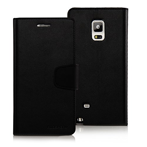 Galaxy Note EDGE Case, Goospery Sonata Diary [Samsung Note 4 Edge] Premium Soft Synthetic Leather [Wallet Case] Case Cover [ID Card Slots & Cash Compartment] - Black