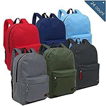 Amazon.com | Wholesale 16.5 Inch Backpacks - Case of 24 ...