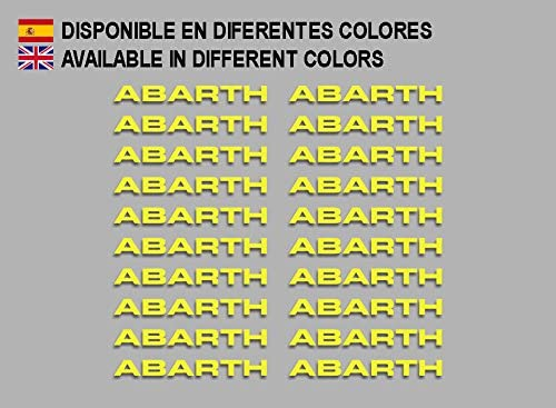 Yellow Ecoshirt BQ-K8FC-C8FV Stickers Abarth F197 Stickers Aufkleber Decals Adesivi Rally Racing