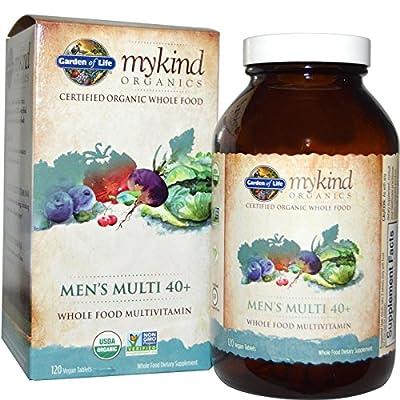 Garden of Life, MyKind Organics, Men's Multi 40+, 120 Vegan Tablets