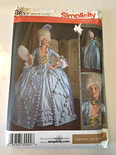 Simplicity 3637 Sewing Pattern, Misses' 18th