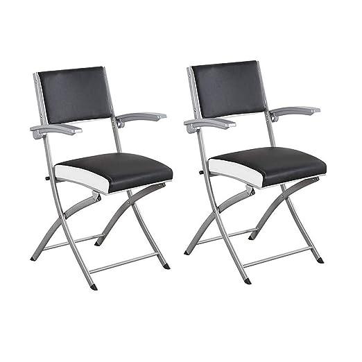 YCSD - Juego de 2 sillones Plegables de Metal y Acero con ...